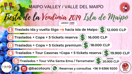 Full Day Baco Tours ~ Fiesta de la Vendimia 2019